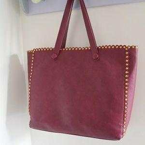 Deux Lux studded large tote bag
